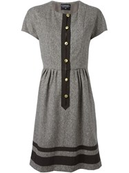 Chanel Vintage Shortsleeved Dress Brown