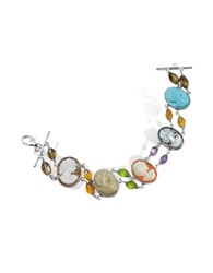 Mia And Beverly Cameo Bracelet Multicolor