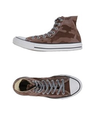 Converse Limited Edition High Tops And Trainers Brown