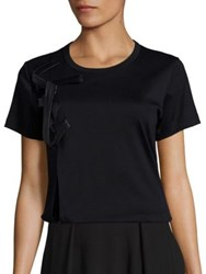 Noir Kei Ninomiya Faux Leather Tee Black