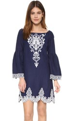 Nanette Lepore Rendezvous Shift Dress Navy White