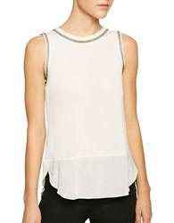 Sanctuary Dillon Bead Embellished Tank Top Winter White