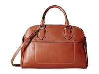 Cole Haan Tali Double Zip Satchel Woodbury Satchel Handbags Burgundy