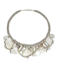 Chan Luu Mother Of Pearl And Cowry Shell Collar Necklace White