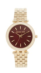 Michael Kors Mini Darci Watch Gold Garnet