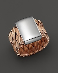 Roberto Coin 18K Rose Gold Plated Sterling Silver Woven Ring