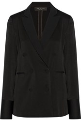 Rag And Bone Adler Satin Blazer Black