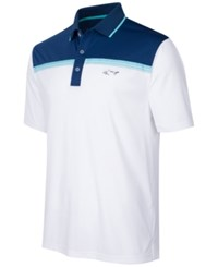 Greg Norman For Tasso Elba Men's Colorblocked Performance Polo Only At Macy's Bright White