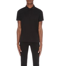 Calvin Klein Janton Mercerised Cotton Polo Shirt Black