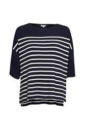 Great Plains Waffle On Cropped T Shirt Blue