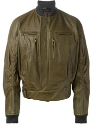 Haider Ackermann Oversized Bomber Jacket Green