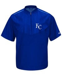 Majestic Men's Short Sleeve Kansas City Royals Authentic Collection Training Jacket Royalblue