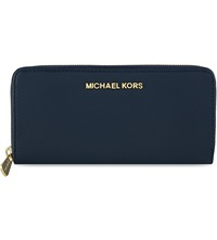 Michael Michael Kors Bedford Leather Continental Wallet Navy