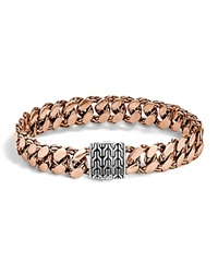 John Hardy Classic Chain Gourmette Bronze And Sterling Silver Large Link Bracelet