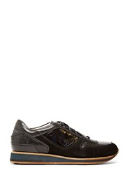 Lanvin Leather Running Sneakers Black