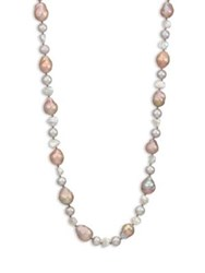 Chan Luu Long 9 12Mm Potato And Cultured Freshwater Pearl Necklace Grey Mix