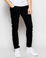 Scotch And Soda Skinny Jeans In Black Wash Black