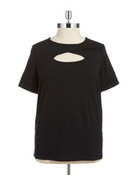 Vince Camuto Plus Cutout Tee Rich Black