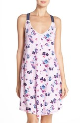 Women's Lucky Brand Racerback Print Jersey Chemise Blur Watercolor