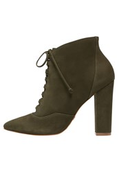 Buffalo High Heeled Ankle Boots Militar Oliv