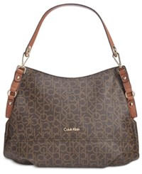 Calvin Klein Hobo Brown Khaki Luggage