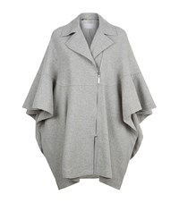 Escada Sport Fluted A Symmetrical Wool Cape Female Grey