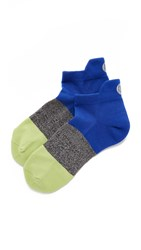 Pointe Studio Mission Cushioned Running Socks Blue