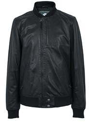 Pretty Green Defiance Leather Jacket Black