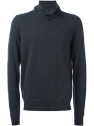 Maison Martin Margiela Buttoned Roll Neck Jumper Grey