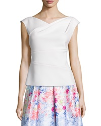 Kay Unger New York Cap Sleeve Structured Top White
