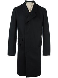 Christophe Lemaire Concealed Fastening Mid Coat Black