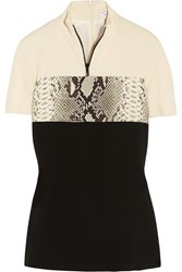 Carven Paneled Stretch Crepe Top