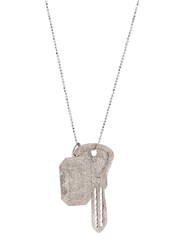 Carolina Bucci Sparkly White Gold Looking Glass Necklace