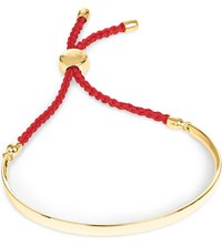 Monica Vinader Fiji 18Ct Gold Plated Friendship Bracelet Gold Coral