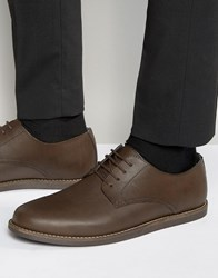 Frank Wright Trinder Lace Up Shoes In Brown Leather Brown