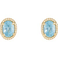 Irene Neuwirth Women's Oval Gemstone Stud Earrings No Color