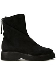 Julius Concealed Zip Boots Black