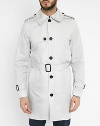 Sandro Blue Summer Mac Lightweight Technical Cotton Raincoat