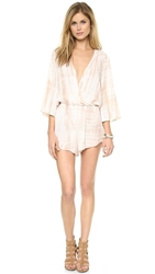 Blue Life Wild And Free Romper White Sand Tie Dye