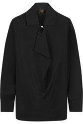 Vivienne Westwood Draped Crepe De Chine Blouse Black