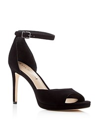 Via Spiga Salina Ankle Strap High Heel Pumps Black