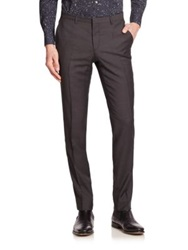 J. Lindeberg Flat Front Virgin Wool Pants Light Black
