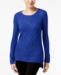 Ny Collection Cable Knit Sweater Surf The Web