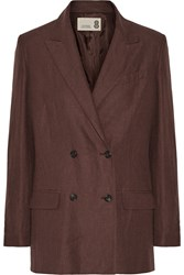 Gbp Linen Blazer Brown