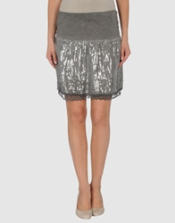 H. Eich Knee Length Skirts Grey