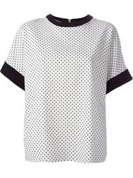 Emanuel Ungaro Dotted Top White