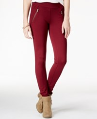 American Rag Ponte Zipper Leggings Only At Macy's Zinfandel