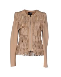Atos Lombardini Coats And Jackets Jackets Women Sand