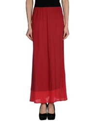 .Tessa Long Skirts Maroon