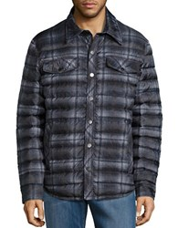 Pendleton Woolen Mills Printed Down Jacket Charcoal